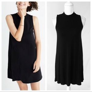 Madewell black mock neck sleeveless tank dress XS